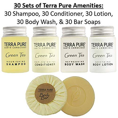 Terra Pure Green Tea | 1-Shoppe All-In-Kit | Hotel Size Amenities Set | Hotel/AirBnB/VRBO/Vacation Rental Soap Set | (150 pcs) by Terra Pure (Image #3)