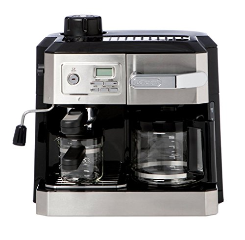 Stainless Steel Combination Drip Coffee, Cappucino and Espresso Machine with Programmable Timer, Adjustable Brew Strength, Auto Shut Off