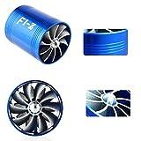 94 chevy intake manifold - E93+F1-Z Double Supercharger Universal Turbine Turb Air Intake Fuel Gas Saver Fan Blue/Black