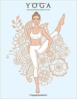 Amazon.com: Yoga Coloring Book for Grown-Ups 1 & 2 ...