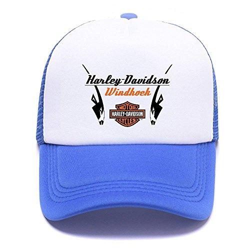 Harley D Black Baseball Caps Gorras de béisbol Trucker Hat Mesh Cap For Men Women Boy Girl 011 Blue