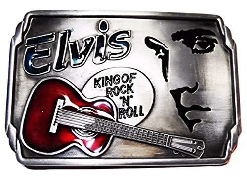 ELVIS The King of Rock N Roll Metal BELT BUCKLE (Elvis Buckle)