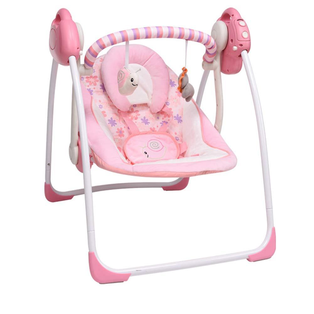 Y-BBouncer Baby Rocking Chair, Electric Swing Rocking Chair, Baby Multi-Function Rocking Chair Recliner, Newborn Children Sleep Cradle,D by Y-BBouncer