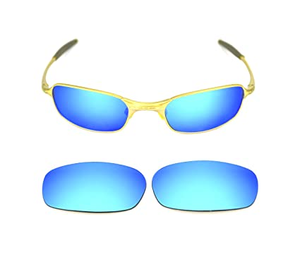 2a5ef12ac5 Image Unavailable. Image not available for. Colour  NEW POLARIZED CUSTOM  ICE BLUE LENS FOR OAKLEY SQUARE WIRE 2.0 SUNGLASSES