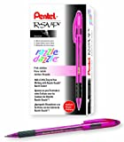 Pentel R.S.V.P. Razzle-Dazzle Ballpoint Pen, Medium Line, Pink Barrel, Black Ink, Box of 12 (BK91RDP-A)