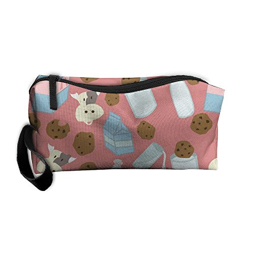 Milk And Cookies Travel Toiletry Bag Makeup Pouch Organizers (Cookie Diaper)
