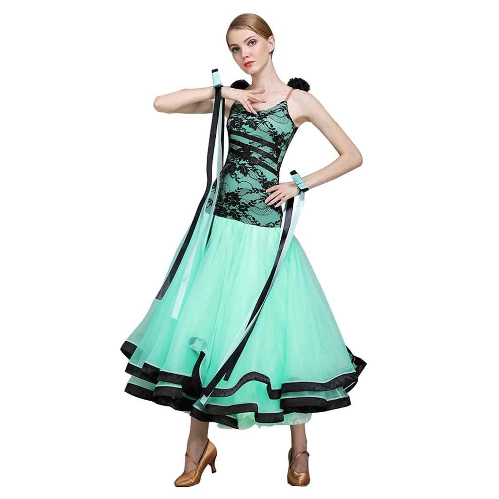有名ブランド レース大人女性現代ダンススカートドレスコスチューム B07HG45LNY XXL|ライトグリーン ライトグリーン XXL XXL, 望月町:1deb1239 --- a0267596.xsph.ru