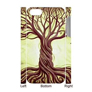FOCUSCASE Design for 3D Bumper Plastic Case Of Tree of Life ,customized case For Iphone 4/4s