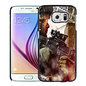 Beautiful Custom Designed Cover Case For Samsung Galaxy S6 With Call of Duty Modern Warfare 2 Art Phone Case Cover