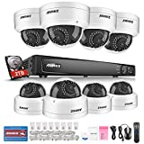 ANNKE 8CH 6.0MP POE Network NVR Security System with 2TB Hard Drive 8PCS 2.0Mega-Pixels CCTV IP Surveillance Cameras, Smart Hard Disk Detection