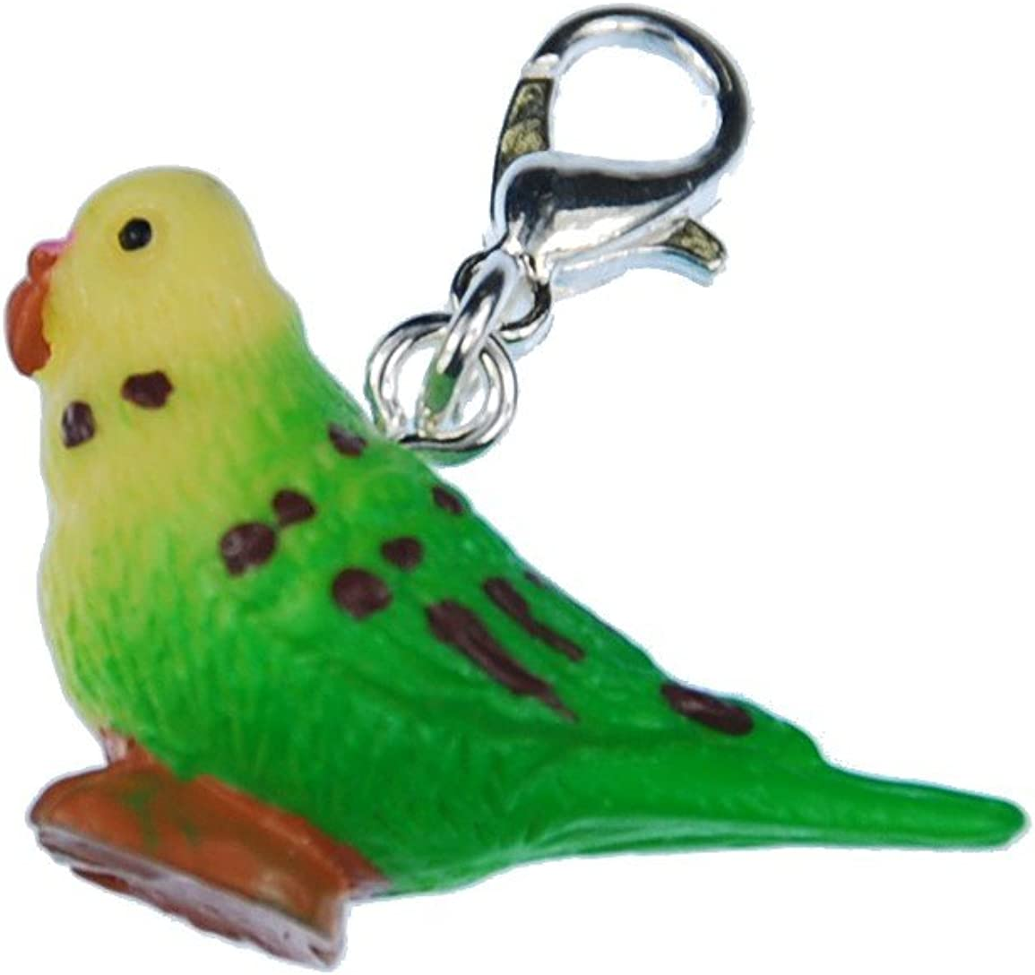 Periquito aretes ohrhänger miniblings mascota pájaro animal de plástico verde
