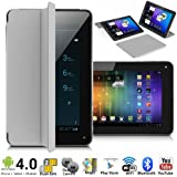 Unlocked! 7 Android 4.4 Phablet GSM Dual-Sim Tablet Phone 3G Smartphone w/ Built-in Smart Cover ~AT&T T-Mobile Compatible~