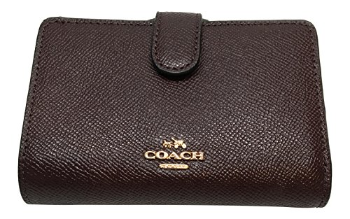 Coach Classic Wallet - Coach Crossgrain Leather Medium Corner Zip Wallet F11484 Oxblood 1