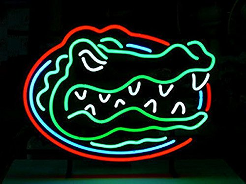 UrbyTM Florida gators Real Glass Neon Light Sign Home Beer Bar Pub Recreation Room Game Room Windows Garage Wall Sign 18''x14'' A16-08