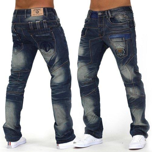Jeans juste fou ID992 Men Regular Fit (de jambe droite)