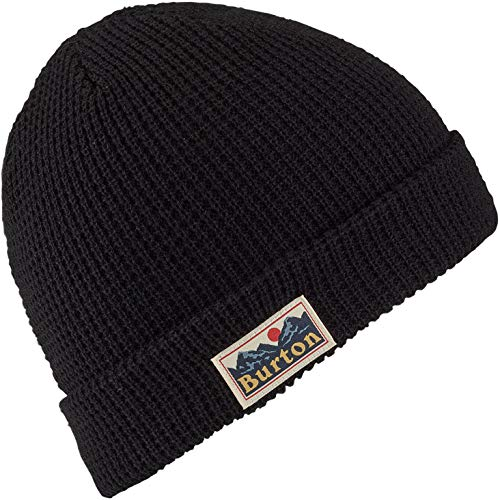 Burton Boys Youth Waffle Beanie, True Black, One Size