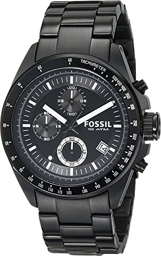 Fossil Men's CH2601 Decker Black Stainless Steel Chronograph Watch