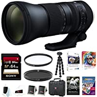 Tamron AFA022C700 SP 150-600mm Di VC USD G2 f/5.6-40.0 Telephoto Zoom for Canon A022 64GB Accessory Bundle