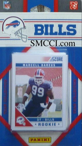 2011 Score Buffalo Bills Factory Sealed 11 Card Team Set. Players Include Steve Johnson, Ryan Fitzpatrick, Roscoe Parrish, Paul Posluszny, Lee Evans, Kyle Williams, Jairus Byrd, Fred Jackson, C J Spiller, Aaron Williams and Marcell Dareus.