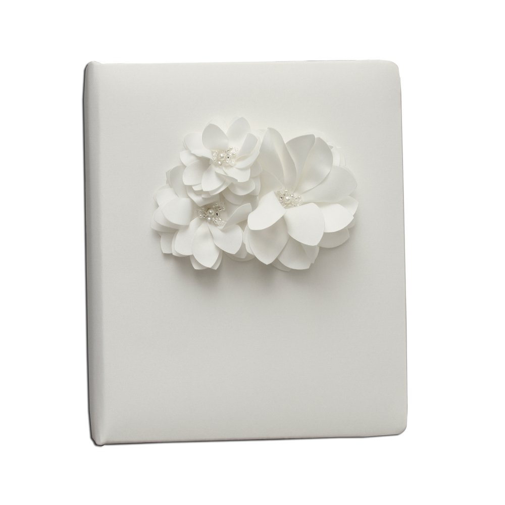 Ivy Lane Design Wedding Accessories Memory Book, Water Lily, White by Ivy Lane Design