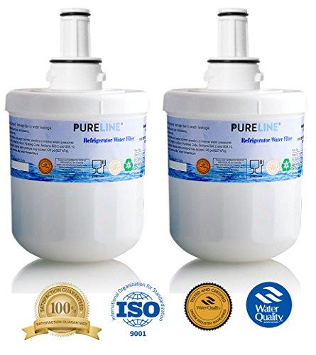 Samsung Aqua-Pure Plus DA29-00003G Refrigerator Water Filter Replacement, Also Fits Aqua-Pure Plus DA29-00003A, DA29-0003B & More - By Pure Line (2 Pack)