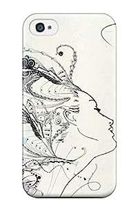 BenjaminHrez Iphone 4/4s Hybrid Case Cover Silicon Bumper Abstract Artistic