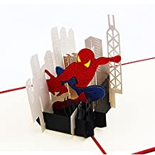 Jerry & Maggie - Pop Up Greeting Card - Spiderman Card 3D Paper Greeting Thank You Card Handmade Anime Superhero Halloween Birthday Thanksgiving For Kids Men Women