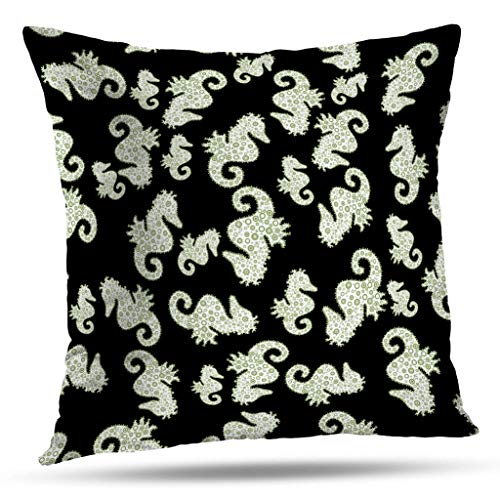 (Suesoso Sea Decorative Pillows Case,Pattern Spring Black White and Neutral Colors Watercolor Painting Throw Pillowcovers 18 x 18 inch,Cushion Decorative Home Decor Nice Gift)
