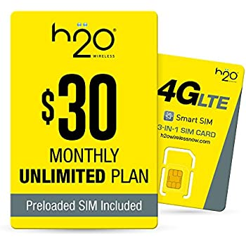 Amazon com: H2O Wireless Micro Sim Card with First Month