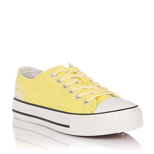 Zapatillas de Lona Amarillas Mustang 13991: Amazon.es: Zapatos y complementos