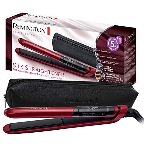 chollos oferta descuentos barato Remington S9600 Silk Plancha de Pelo Cerámica Digital Placas Flotantes Extralargas Rojo Resultados Profesionales Rojo