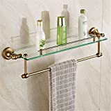 LAONA European style antique copper foil, antique bathroom fittings, toilet paper rack, towel, single and double pole,Shelf 1 B