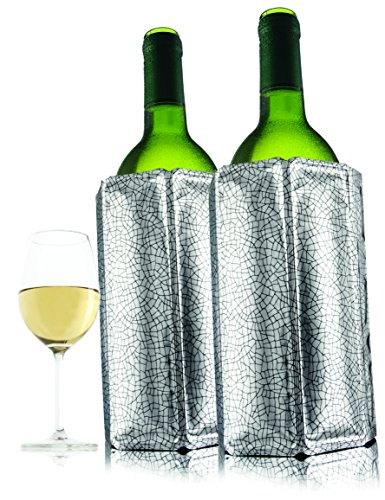 Vacu Vin Active Wine Cooler Silver, Set of (White Wine Chiller)