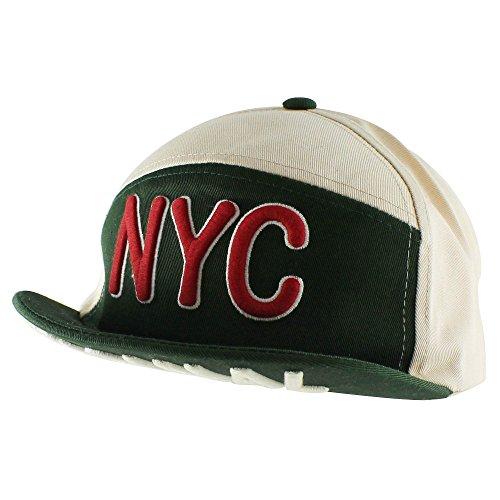 Morehats Flip Up Short Brim NYC Casual Baseball Cap Adjustable Hat - -