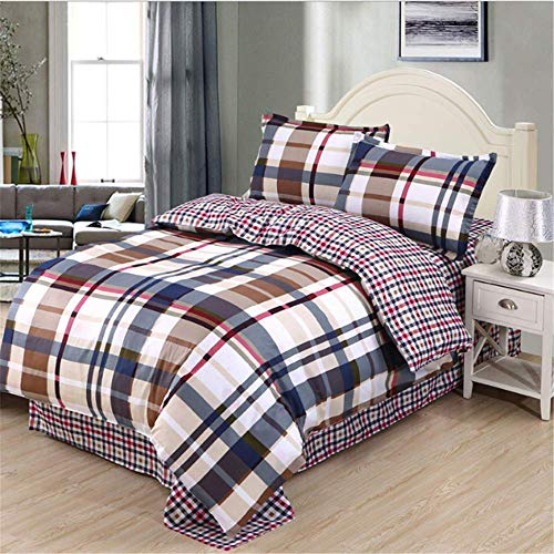 SSHHJ Bedding Set Luxury Family Set Duvet Cover Pillowcase Boy Room Flat Sheet C 220x240cm ()