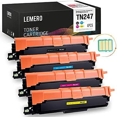 4 LEMERO Compatible TN-247 TN-243 TN247 TN243 [con Chip] Toner ...