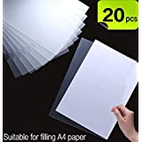 20 Pack Clear Document Folder L-type plastic folder Copy Safe Project Pocket US letter/A4 Size in Transparent Color