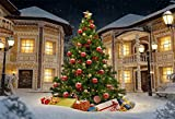 OFILA Christmas Backdrop 8x7ft New Year Photography Background Winter Snow Xmas Tree Decoration Festival Celebration New Year Party Photos Adult Shoots Video Studio Props