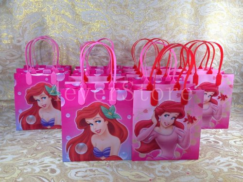 Disney Princess Ariel Little Mermaid Small Party Favor Goody Bags (Spongebob 1st Birthday)