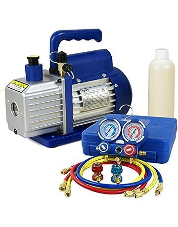 F2C 3.5CFM 1/4HP HVAC Air Vacuum Pump Kit with/AC Refrigeration Gauge