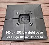 Unibest 4 Pieces Plastic Patio Umbrella Shade Base Plate Stand for Casual Cantilever Offset Umbrella (23L)