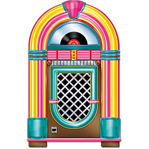 Beistle Jukebox Cutout Party Accessory 3-Feet Tall | Printed