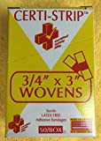 "Certi-Strip 3/4"" x 3"" Wovens Bandages 220-263"