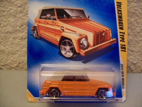 Hot Wheels 2009 New Models Orange Volkswagen Type 181 1:64 Scale