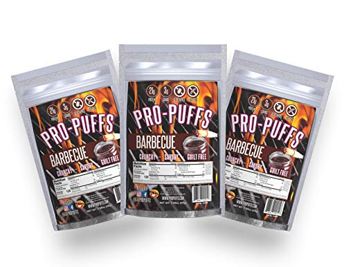 Pro-PuffsTM BBQ | 21g Protein – 3g Carbs | High Protein Puffs | Low Carb, Keto Friendly, Gluten Free, Soy Free, Peanut Free | (BBQ, 3 Pack)