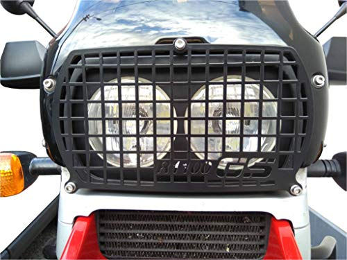 Bay4Global FK.R1100GS Headlight Cover Guard Protector Stylish Black Grill For BMW R1100GS Motorcycle