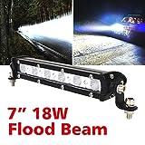 Safego 18W LED Work Lights 12V LED Light Bar Cree 4X4 Flood Beam Offroad 4WD Car Trucks Jeep Tractor ATV Fog Driving Lamp 12V 24V