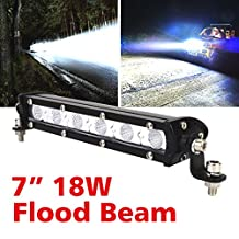Safego 18W LED Work Lights 12V LED Light Bar Cree 4X4 Flood Beam Offroad 4WD Car Trucks Jeep Tractor ATV Fog Driving Lamp 12V 24V