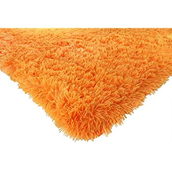 Amazon Com Terracotta Orange Luxury Shaggy Shag Area Rug