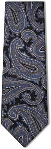 Origin Ties Men's Fashion Paisley Carom Silk Tie